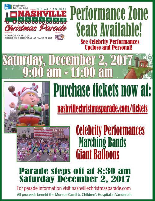 Piedmont Natural Gas Nashville Christmas Parade 2017 – 64th Annual ...