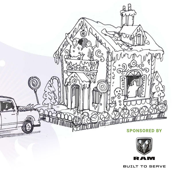 Gingerbread House Float-  Sponsored by RAM Trucks